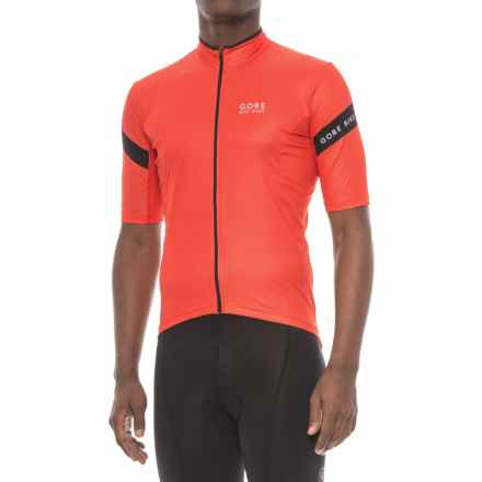 Gore Bike Wear Power 3.0 Cycling Jersey - Full Zip, Short Sleeve (For Men) in Orange.Com/Black - Closeouts