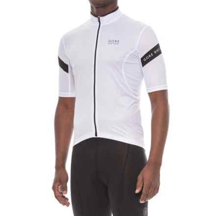 Gore Bike Wear Power 3.0 Cycling Jersey - Full Zip, Short Sleeve (For Men) in White/Black - Closeouts