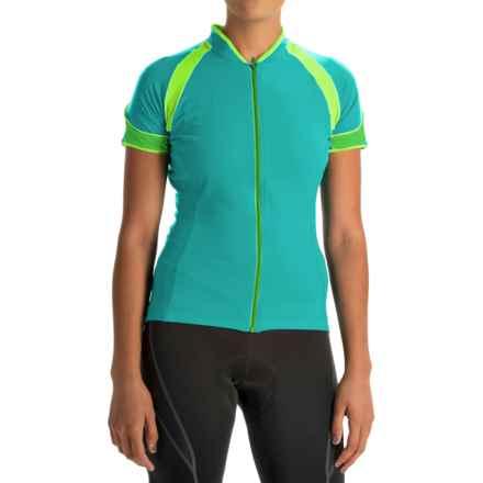 Gore Bike Wear Power 3.0 Cycling Jersey - Full Zip, Short Sleeve (For Women) in Turquoise/Fresh Green - Closeouts