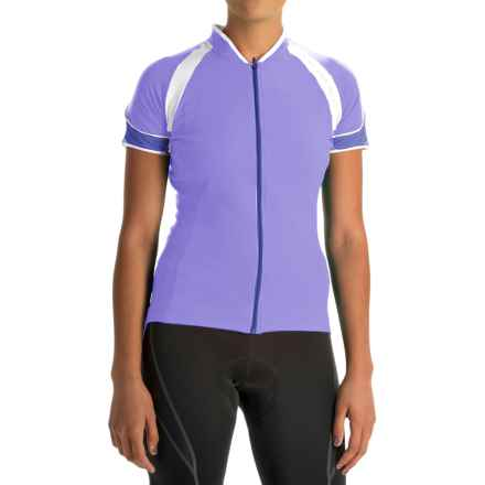 Gore Bike Wear Power 3.0 Cycling Jersey - Full Zip, Short Sleeve (For Women) in Violet/Speed Blue - Closeouts