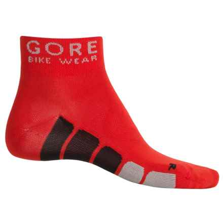Gore Bike Wear Power Cycling Socks - Ankle (For Men and Women) in Red/Black - Closeouts