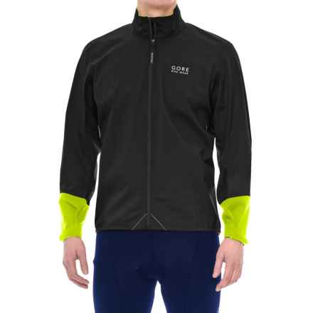 Gore Bike Wear Power Gore-Tex® Jacket - Waterproof (For Men) in Black/Neon Yellow - Closeouts