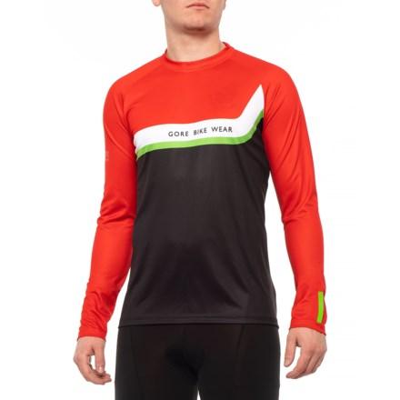 Gore Bike Wear Power Trail Cycling Jersey - Long Sleeve (For Men) in Red 85ac728b1