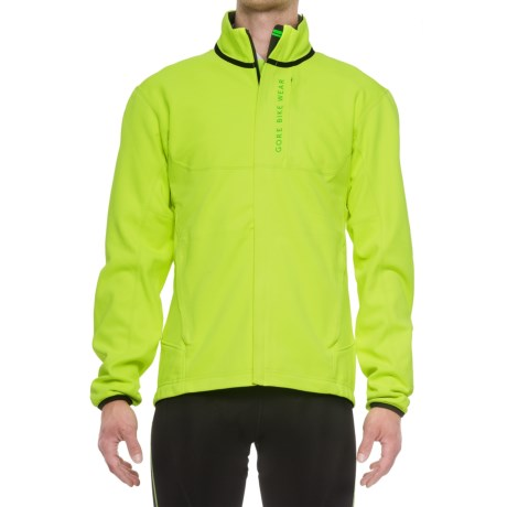 Gore Bike Wear Power Trail Windstopper® Soft Shell Thermo Cycling Jacket (For Men) in Neon Yellow