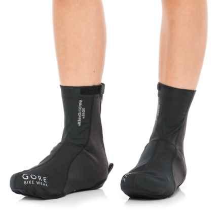 Gore Bike Wear Road Windstopper® Light Overshoes (For Men and Women) in Black - Closeouts
