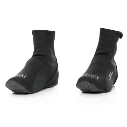 Gore Bike Wear Road Windstopper® Overshoes - Fleece Lined (For Men and Women) in Black - Closeouts