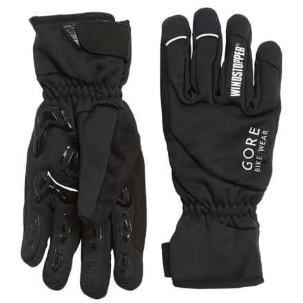Gore Bike Wear Tool Windstopper® Soft Shell Gloves (For Men) in Black - Closeouts