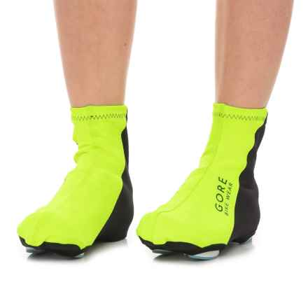 Gore Bike Wear Universal Windstopper® Cycling Shoe Covers (For Men and Women) in Neon Yellow/Black - Closeouts