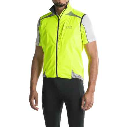 Gore Bike Wear Visibility Windstopper® Active Shell Vest (For Men) in Neon Yellow - Closeouts