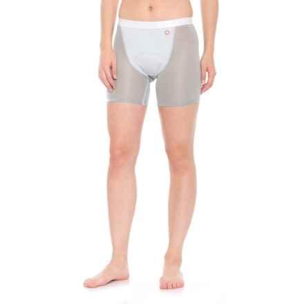 Gore Bike Wear Windstopper® Base Layer Shorts+ (For Women) in Light Grey/Titan - Closeouts