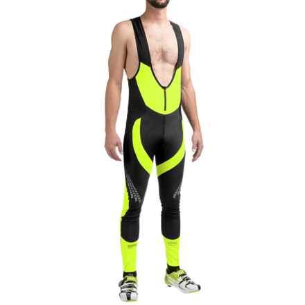Gore Bike Wear Xenon 2.0 Windstopper® Bib Tights (For Men) in Black/Neon Yellow - Closeouts