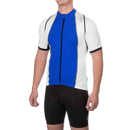 Gore Bike Wear Xenon 3.0 Cycling Jersey - Full Zip, Short Sleeve (For Men) in Brilliant Blue/White - Closeouts