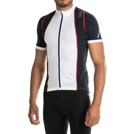 Gore Bike Wear Xenon 3.0 Cycling Jersey - Full Zip, Short Sleeve (For Men) in White/Black - Closeouts