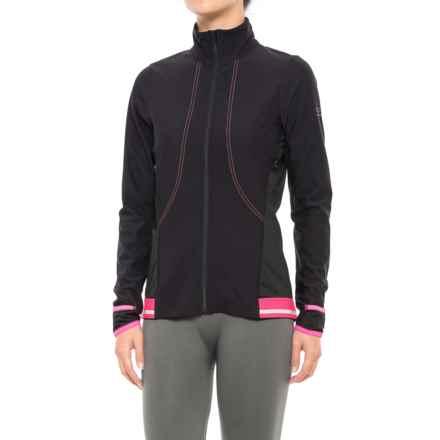 Gore Running Wear Air 2.0 Lady Windstopper® Jersey Jacket - Full Zip (For Women) in Black/Hot Pink - Closeouts