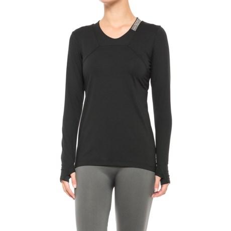 Gore Running Wear Air Lady Shirt - Long Sleeve (For Women) in Black