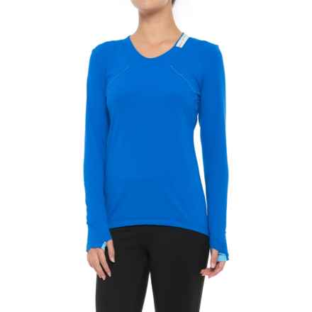 Gore Running Wear Air Lady Shirt - Long Sleeve (For Women) in Brilliant Blue/Ice Blue - Closeouts