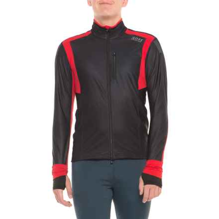 Gore Running Wear Air Windstopper® Full-Zip Shirt - Long Sleeve (For Men) in Black/Red - Closeouts