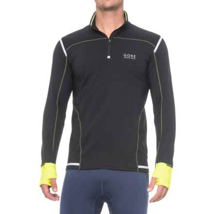 Gore Running Wear Mythos 2.0 Shirt - Zip Neck, Long Sleeve (For Men) in Black/Neon Yellow - Closeouts