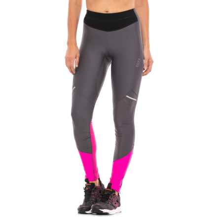 Gore Running Wear Mythos Lady 2.0 SO Tights (For Women) in Graphite Grey/Magenta - Closeouts