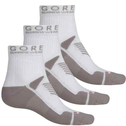 Gore Running Wear Mythos Running Socks - 3-Pack, Ankle (For Men and Women) in White - Closeouts