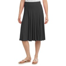 Gored Knit Skirt - Pull-On (For Women) in Black - 2nds