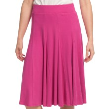 Gored Knit Skirt - Pull-On (For Women) in Dark Rose - 2nds