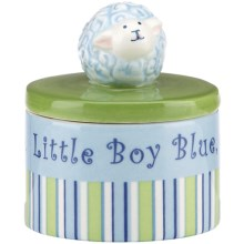 Gorham Little Boy Blue Round Trinket Box in Boy - Closeouts
