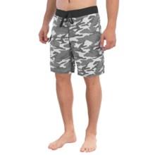 Gotcha Camo Print Boardshorts (For Men) in Jet Black - Closeouts
