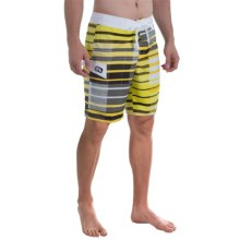 Gotcha Stripe Boardshorts (For Men) in Sulpher Spring - Closeouts