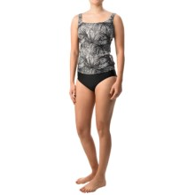 Gottex Blue Tankini Set (For Women) in Black/White Print W/Black - Closeouts