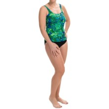 Gottex Blue Tankini Set (For Women) in Blue/Green Floral - Closeouts