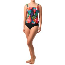Gottex Blue Tankini Set (For Women) in Multi Ikat W/Black - Closeouts