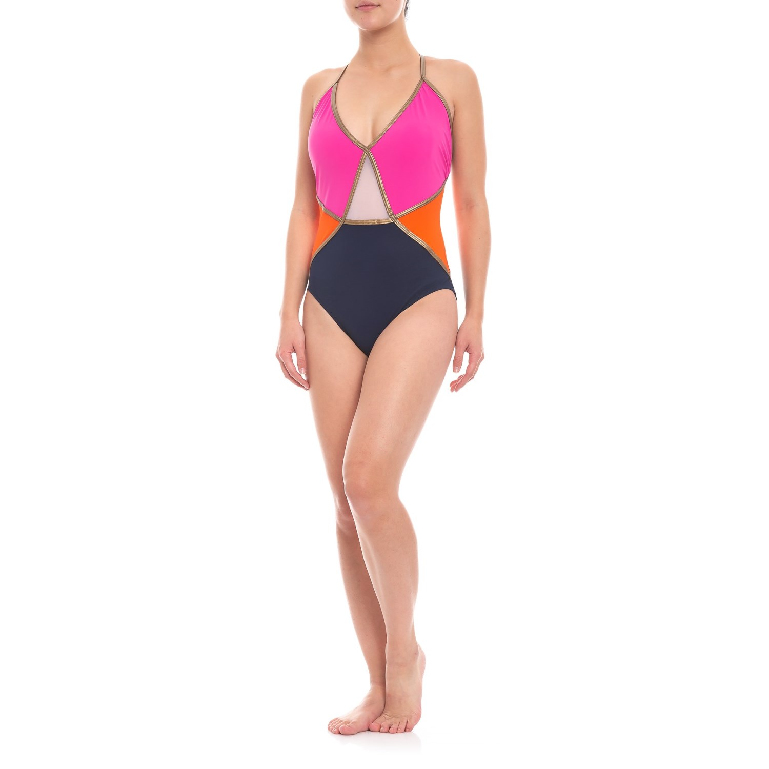 Gottex Maritime V-Neck One-Piece Swimsuit (For Women) - Save 80%