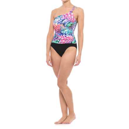 Gottex Profile by  Canary Islands Asymmetrical One-Piece Swimsuit (For Women) in Multi - Closeouts