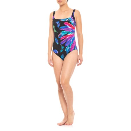 Gottex Reverie Square Neck One Piece Swimsuit Upf 50 For Women