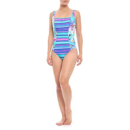 ffbee5645c9 Gottex Samosir Square Neck One-Piece Swimsuit (For Women) in Multi -  Closeouts
