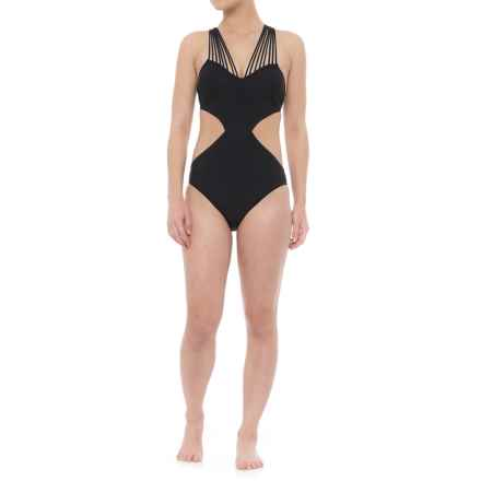Gottex Sex on the Beach Strappy One-Piece Swimsuit - Built-In Bra (For Women) in Black - Closeouts