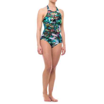 Gottex Tropical Dawn Halter Top Tankini Set - Padded Cups (For Women) in Multi - Closeouts