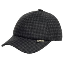 Gottman Polo Gore-Tex® Baseball Cap - Waterproof, Wool Blend, Ear Flaps (For Men) in Dark Grey Plaid - Closeouts