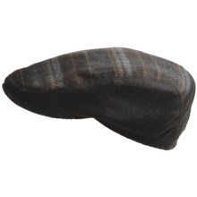 Gottmann Innsbruck Driving Cap - Ear Flaps, Water Repellent (For Men) in Brown Plaid - Closeouts
