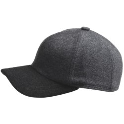 Gottmann Polo Baseball Cap - Ear Flaps, Wool Blend (For Men) in Black