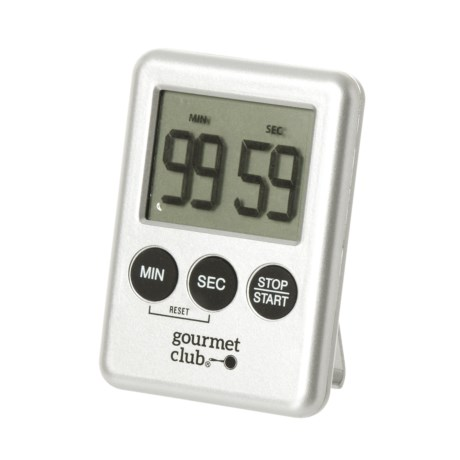 Superieur Gourmet Club Digital Kitchen Timer In Silver