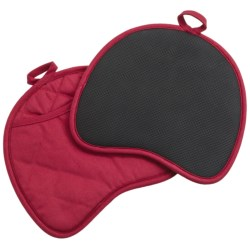 Gourmet Club Neoprene Pot Holders - Set of 2 in Red