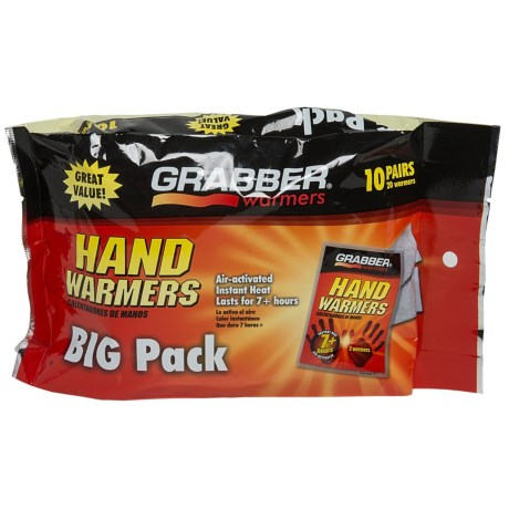 Grabber 7-Hour Hand Warmers - 10-Pack in See Photo