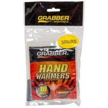 Grabber 7-Hour Hand Warmers - 3-Pack in See Photo - Closeouts