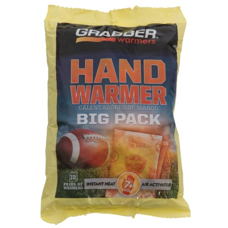 Grabber Hand Warmer Big Pack - 10-Pair in See Photo