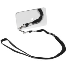 Grabber Stainless Steel Signal Mirror with Lanyard in See Photo - Closeouts