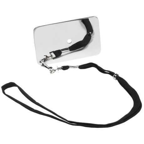 Grabber Stainless Steel Signal Mirror with Lanyard in See Photo