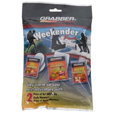 Grabber Weekender Warmer Pack - Variety 6-Pack in See Photo - Closeouts