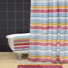 "Graccioza Lollypop Fabric Shower Curtain - 70x78"" in Multi - Closeouts"